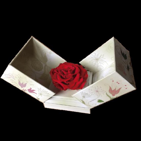 caja de rosa individual