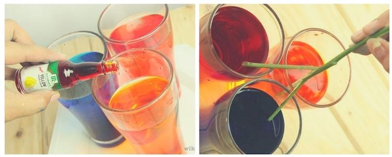 como hacer rosa arcoíris