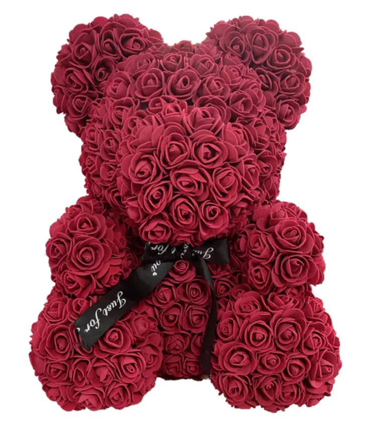 oso con rosas