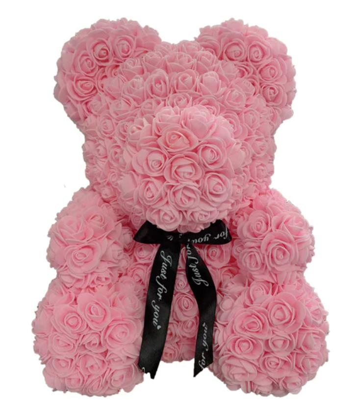 oso hecho de rosas