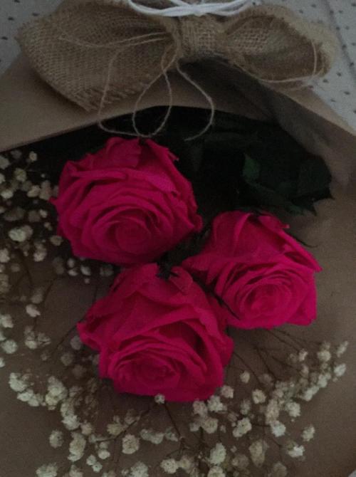 ramo de rosas fucsia preservadas