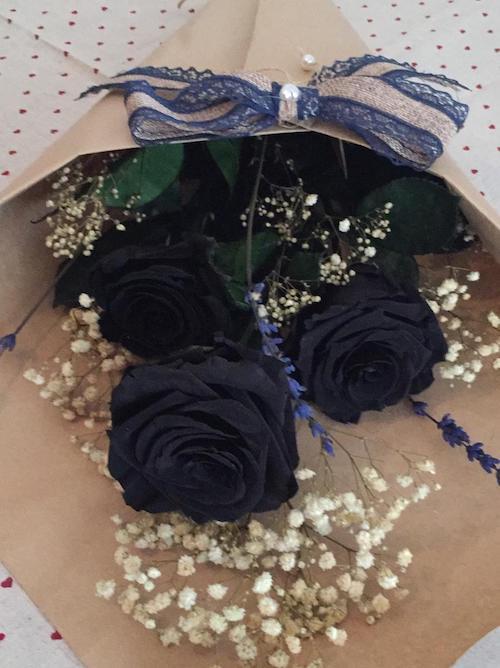 Comprar Ramo De Rosas Negras Preservadas Rosaeterna Online