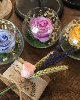 rosas en vaso
