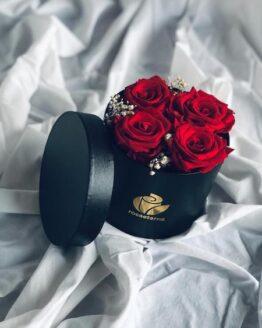 caja 4 rosas