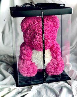 osos de rosas con caja