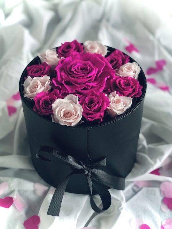 rosas preservadas en caja