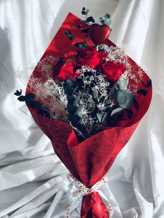 Ramo rosas preservadas san valentin