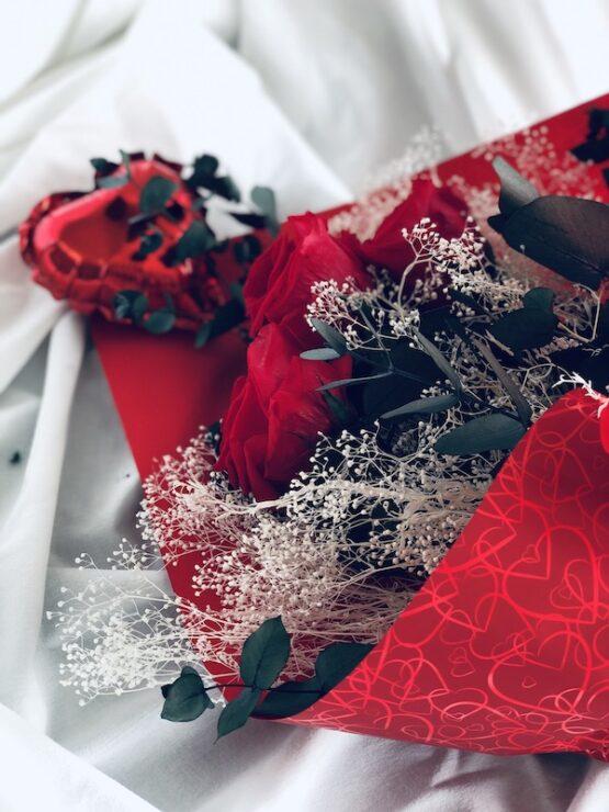 ramo rosas eternas san valentin
